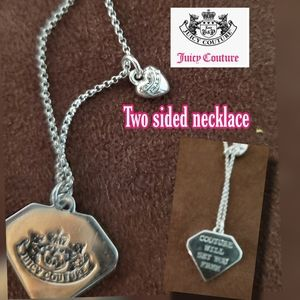 🆕️SILVER JUICY COUTURE FLIP CHARM NECKLACE